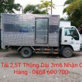 Cho thuê xe tải 2,5 tấn dài 3m6 x 1m8 x cao 1m9