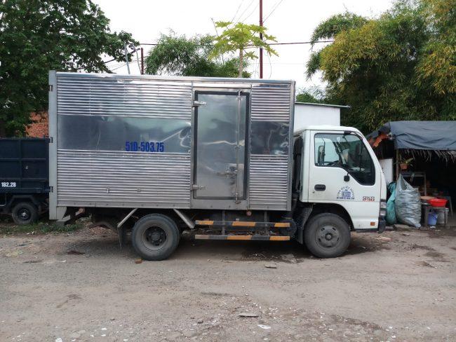 Cho thuê xe tải 2 tấn thùng dài 3m2