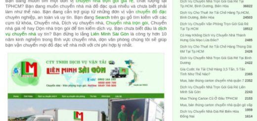 Dịch Vụ Chuyển Nhà Trọn Gói Giá Rẻ Tại Tp.HCM